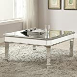 Coaster Contemporary Silver Mirrored Coffee Table
