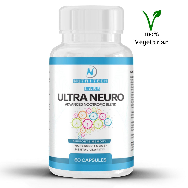 Nootropico natural - Apoya la memoria, el enfoque y la concentración - nootropicos cognitivo con Bitartrato de colina, fosfatidilserina, ginkgo biloba y ...