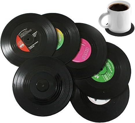 Bllatta Spinning retro del disco de vinilo bebidas Posavasos Mat ...