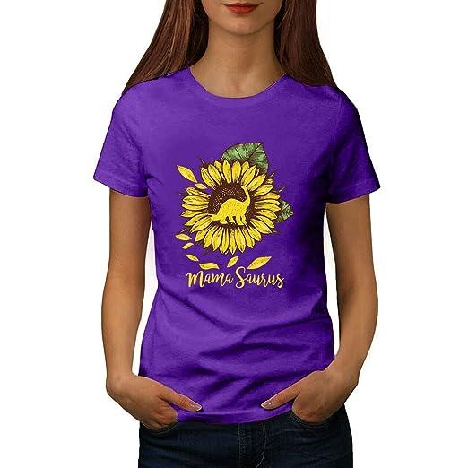 Berryhot - Camiseta de Manga Corta para Mujer, diseño de Girasol ...