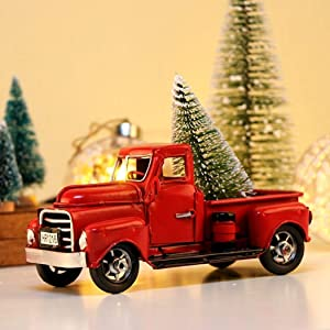 Shirt Luv Red Metal Truck, Vintage Red Metal Truck Rustic Pickup Truck Exquisite Home Christmas Holiday Coffee Shop Decoration