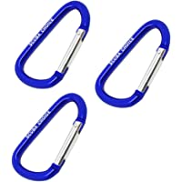 Boat Marine Clip Blue Aluminum Safety Spring Hook Carabiner 8cm, 3pc pack by Scuba Choice