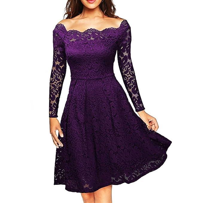 BU-Bauty - Vestido - para mujer morado violeta XL