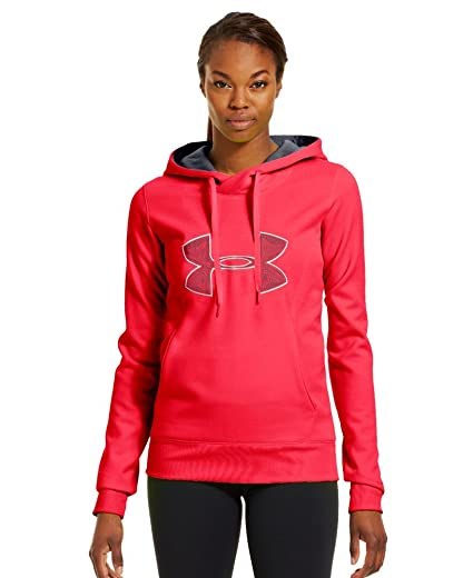 37cf5a66c5efa Under Armour Women s Armour Fleece Storm Embroidery Big Logo Hoodie X-Small  Neo Pulse