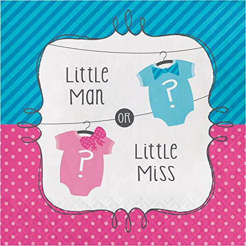 Bow or Bowtie Gender Reveal Napkins, 48 ct]()