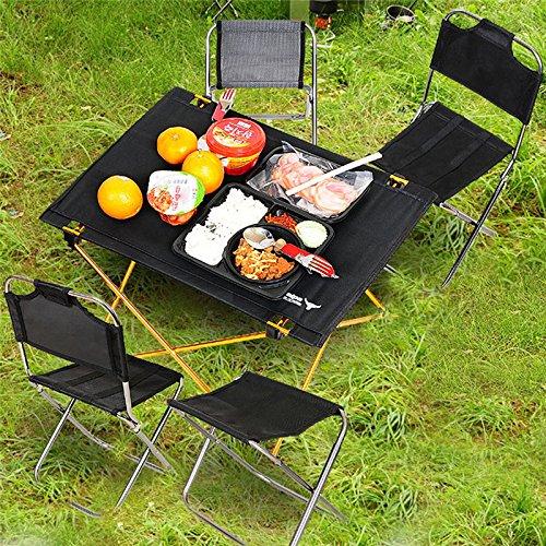 Campingtisch Alu Klapptisch Aluminium Camping Klapp Tische ideal Reisetisch Falttisch Gartentisch klappbar Tisch f/ür Camping Outdoor Picknick BBQ Wandern Reise Angeln Urlaub in Tasche tragbar