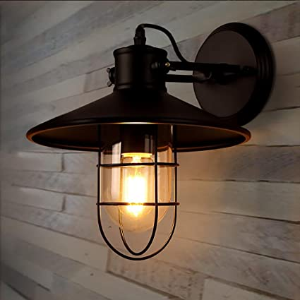 Amazon.com: Edison Lámpara de pared soporte luz de vidrio ...