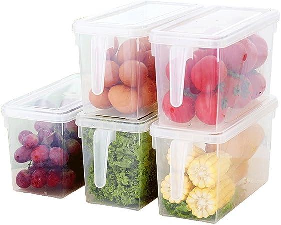 Morbuy 1PC Cocina Frigorifico Frigorifico Cajas Congelador Recipiente de Almacenamiento Caja Frigorífico Alimentos Caja Contenedor (E): Amazon.es: Hogar