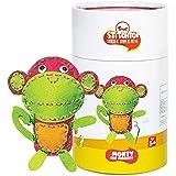 Toiing Stitchtoi-DIY Felt Toy Stitching Kit for Kids Age 5-10 Years (Monkey)