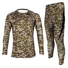 Jagger Men's Fleece Camouflage Running Cycling Jersey T-Shirt Pants Sets XXL Brown