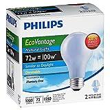 Philips 72W 120V A19 Natural Light Halogen Bulb