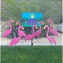 """36 Pink"""" Skinnimingos"""" + 1 You've Been Flocked sign"""