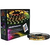 SET: RGB LED STRIP Band Leiste 5 METER - INKL. FERNBEDIENUNG UND NETZTEIL - MFYRGB-5