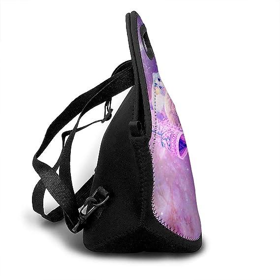 2af8fc91b040 Amazon.com: LGDZ Stylish Space Cat Lunch Bag Tote Soft Lunch Box ...