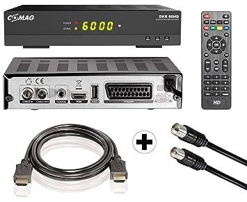 HDMI Kabelreceiver Comag DKR60 DVB-C HD TV FULL Digital Kabel-Set Antennenkabel