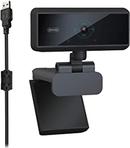 Webcam 1080P with Microphone, Auto Focus Webcam, Plug and Play, Computer Camera Web Camera PC Webcam for Video Calling Recording Conferencing 5 Megapixel