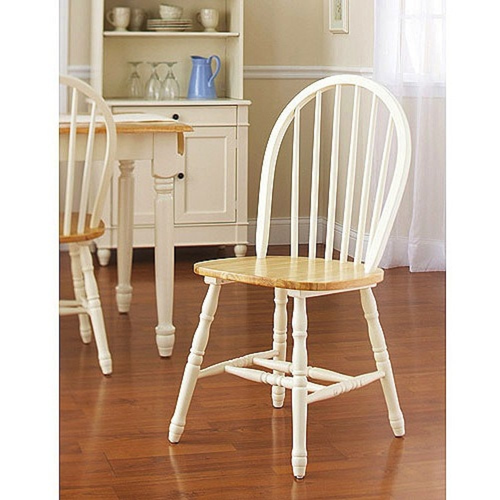amazoncom fortune bliss wooden dinette table with 4 chairs one country bench and ebook set of 6 white and natural kitchen dining - Oak Kitchen Chairs
