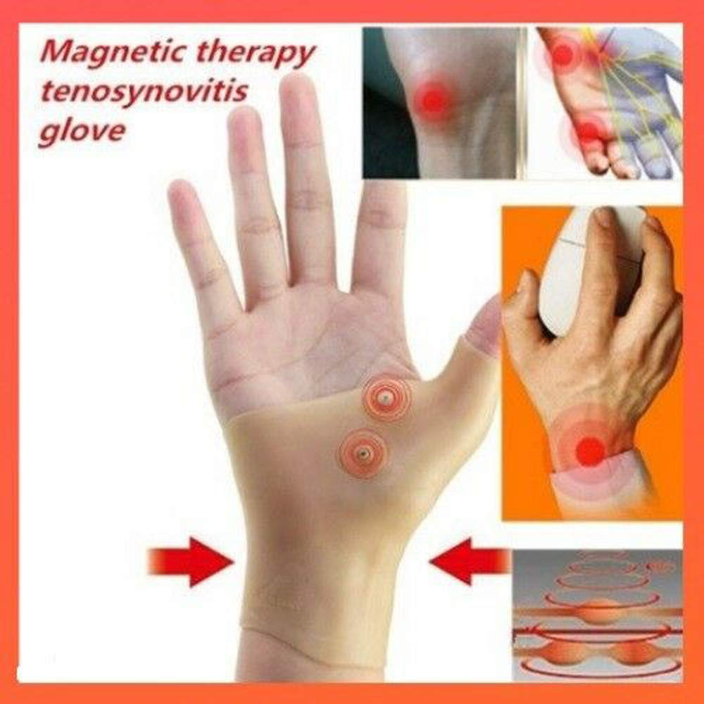 Sameno 2PCS Compression Magnetic Therapy Gloves Wrist Hand Thumb Support Pressure Corrector Pain Relief