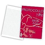 Pigna 02156211R Pigna Protocollo Lot de 200 feuilles, lignées, sans marge, 80g/m²