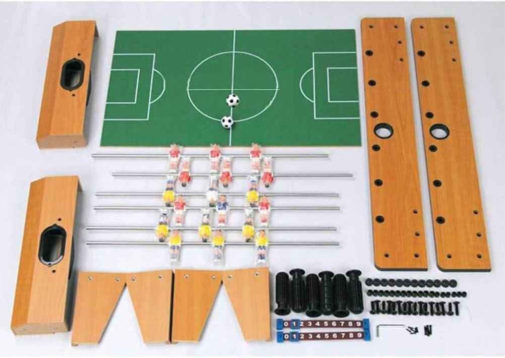 Estilo de Tabla 6 Filas Futbolín Juego de Mesa de Madera con Patas Apoyo Baby Foot Infantil para Niños Fútbolista Deporte Patada de Mesa Mesa de Fútbol Futbolín Mini: Amazon.es: Hogar