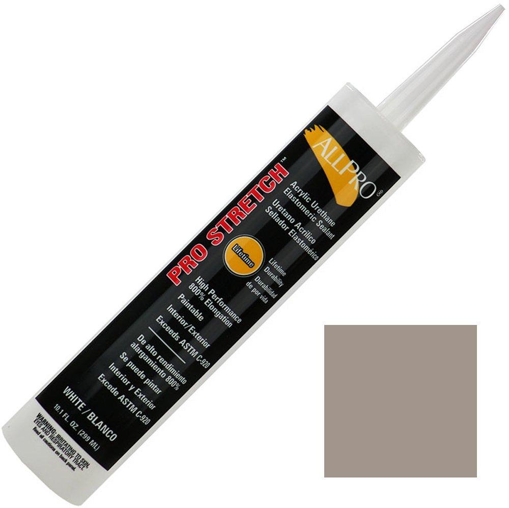 Allpro Pro Stretch Acrylic Urethane Sealant/Caulk (case of 12) (Case (12 Tubes), Aluminum Gray)
