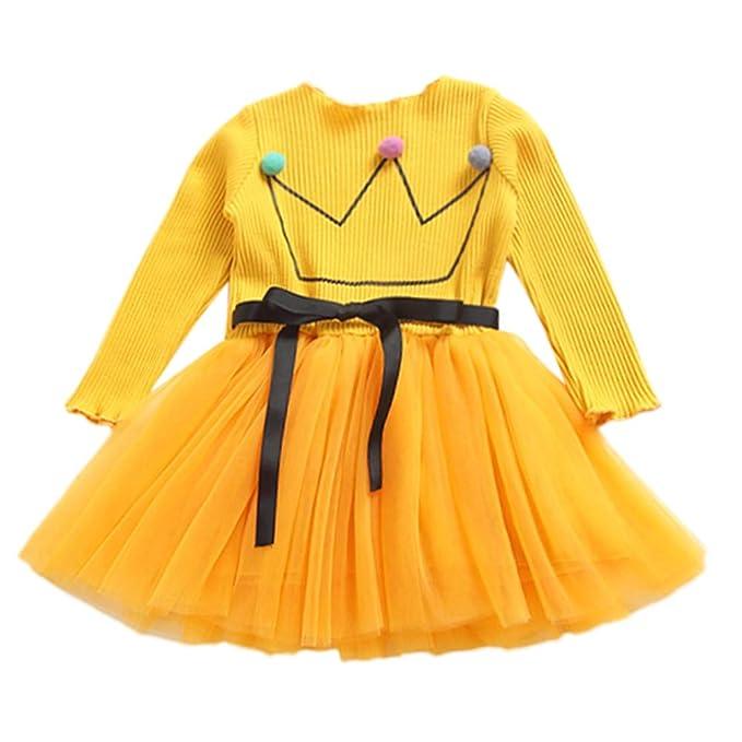 K-youth Vestidos Bebe Niña, Recién Bebé Niñas Tutú Princesa Vestido Pentagram Bautizo Bebé Niñas Vestidos de Manga Larga Otoño Invierno Ropa para 0-24 ...