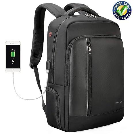 DAN SHANG Mochila para portátil de Negocios para Hombres y Mujeres con Puerto de Carga USB