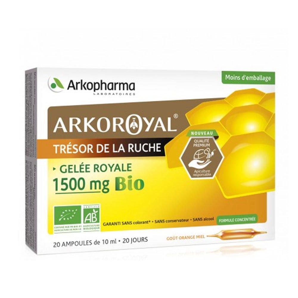 Arko Royal Gelée Royale Bio 1500mg - 20 x 15ml Arkopharma: Amazon.es: Salud y cuidado personal