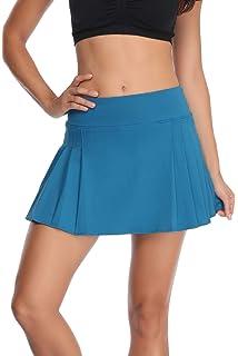online store 6b792 dcfb3 32e-SANERYI Women s Pleated Tennis Skirt Elastic Quick-Drying Skort with  Side Inner Pocket