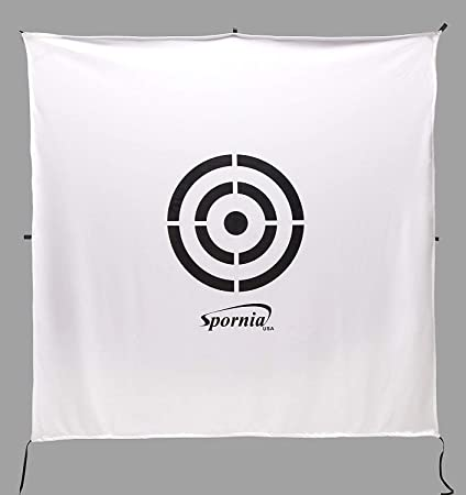 Spornia Golf Net Target 64 x 64 Circle Backstop Target Golf Simulator Screen Training Aid, Driving Range Target 2 in 1 Reversible