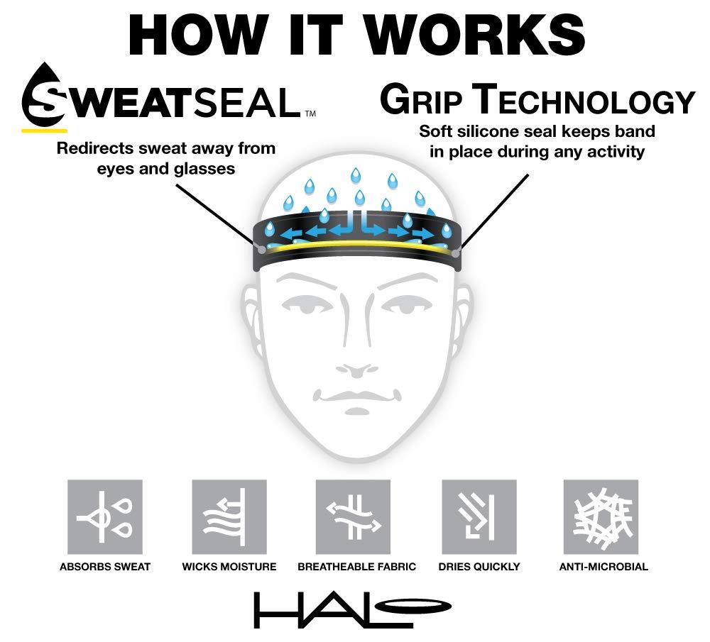 Halo Headbands Sweatband, Black Tie Dye by Halo Headbands (Image #3)