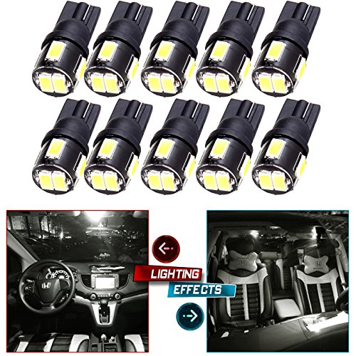 Wedge 168 194 LED Bulb for 2011 Up Infiniti M37 / M56 (Q70) LED Interior Lights Bulb Replacement Dome Light Trunk/Cargo Area Light Step/Courtesy/Door Light (Cargo Step)