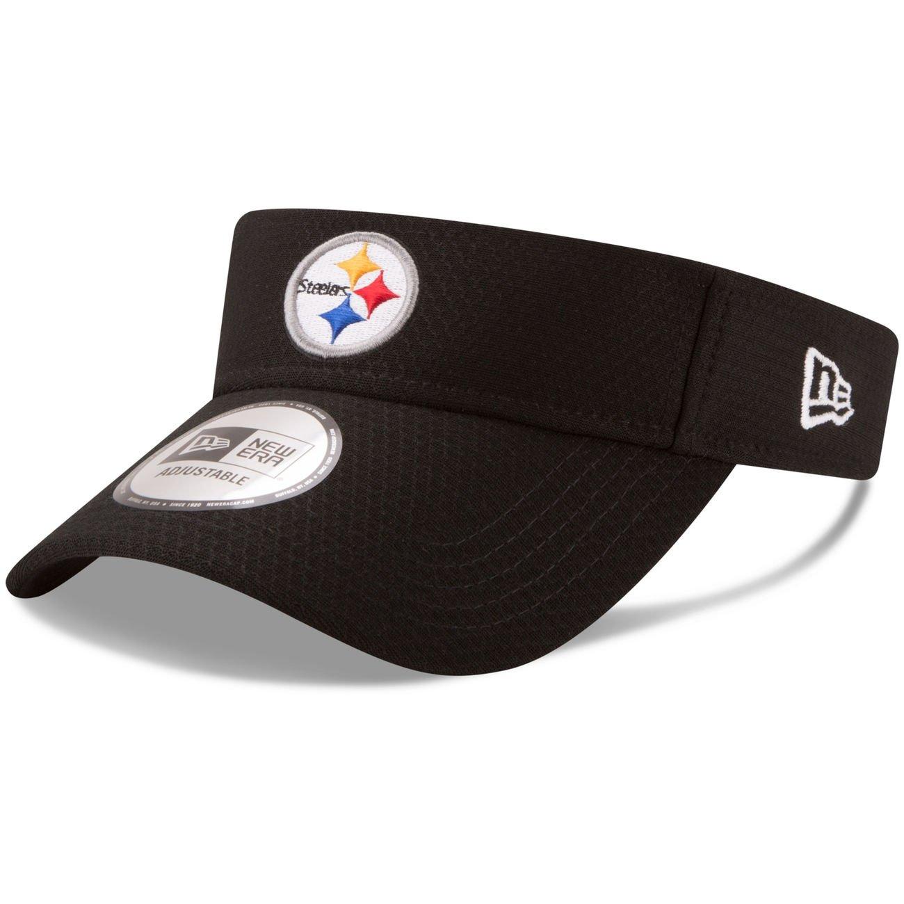 Pittsburgh Steelers新しい時代2017 onフィールドトレーニングCamp Adjustableバイザー – ブラック   B072VDMX8J
