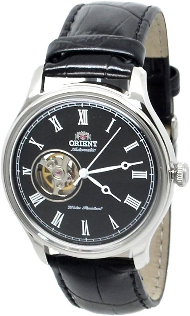 Orient Open Heart Automatic Black Dial Mens Watch FAG00003B0