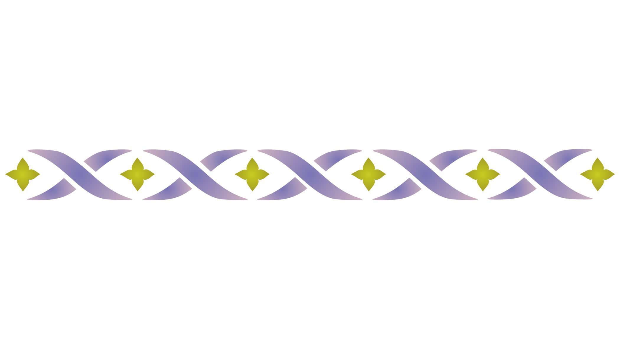 """BORDER Ribbon Stencil - (size 12""""w x 1.25""""h) Reusable Wall Stencils for Painting - Best Quality Wall Art Décor Ideas - Use on Walls, Floors, Fabrics, Glass, Wood, Terracotta, and More…"""