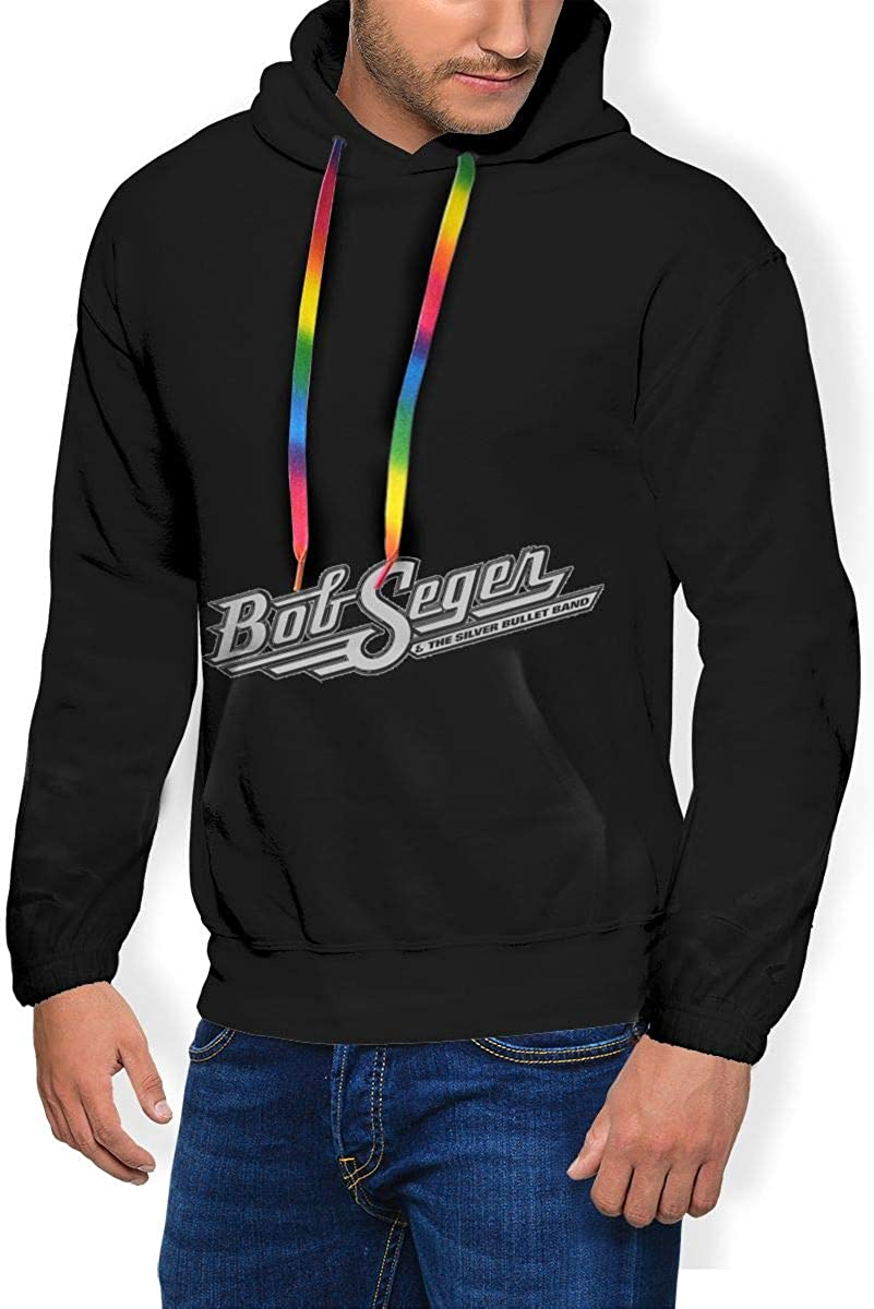 Bob Seger Mens Winter Jacket Clothes Plus Velvet Long Sleeve Hooded Sweat Shirt Pullover