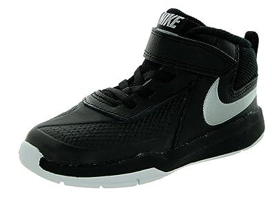 low priced 19266 54000 Nike Enfant Team Hustle d 7 (TD) Basketball Chaussures - Noir - Black