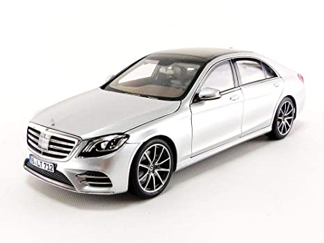 2018 Mercedes S Class Amg Line Silver Metallic 1 18 Diecast Model Car By Norev 183479