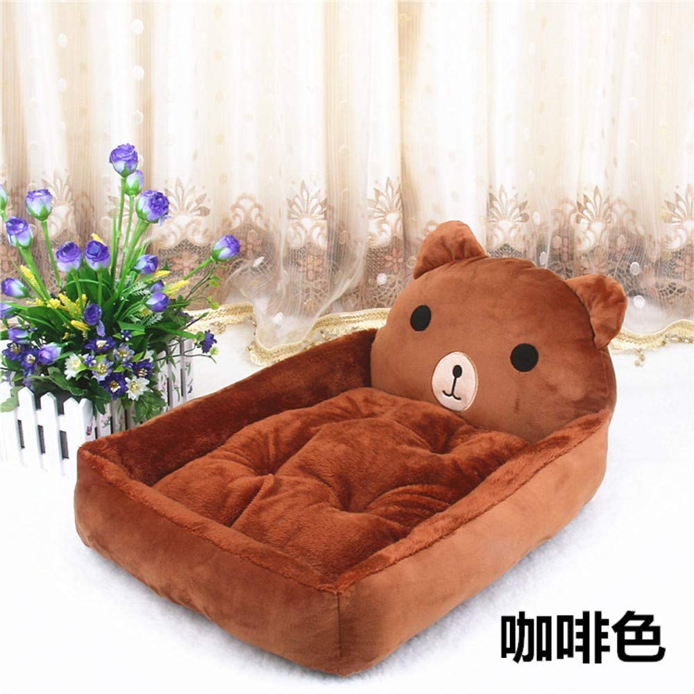 70x55x15cm WALSITK Cute cartoon kennel Teddy Poodle Samoyed autumn and winter warm pet nest dog bed cat litter bear 70x55x15cm