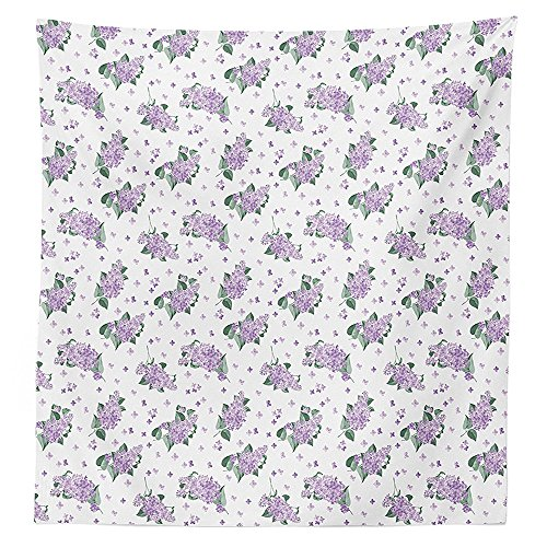 Mauve Elegance Round Tablecloth - Mauve Decor Tablecloth Elegance Blooms of Nature Romance Florets French Style Bridal Eco Art Print Dining Room Kitchen Rectangular Table Cover Lavender Green