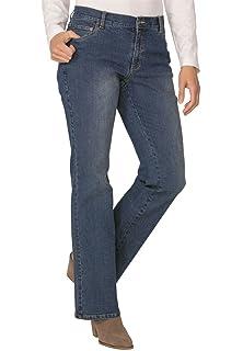 c00cd1bfad1 Ulla Popken Women s Plus Size Elastic Waist Bootcut Jeans 714959 at ...