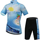 Free Fisher Kids Boys' Girls' Short Sleeve Cartoon Cycling Jersey Set/Top/Short