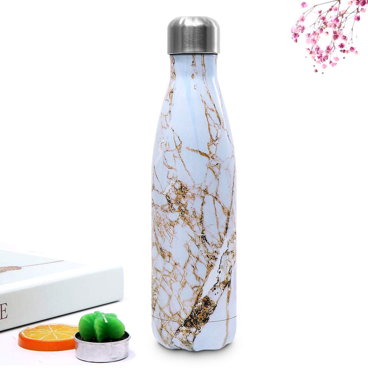 Water Bottles for Children School Sports BPA Free Outdoor Yoga Double Wall Vacuum Insulated Thermal Water Bottle Gym Esta.east Stainless Steel Water Bottle