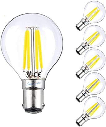 50 x 4W DIMMABLE LED Clear Candle Light Globes Bulbs Warm B15 Small Bayonet Cap