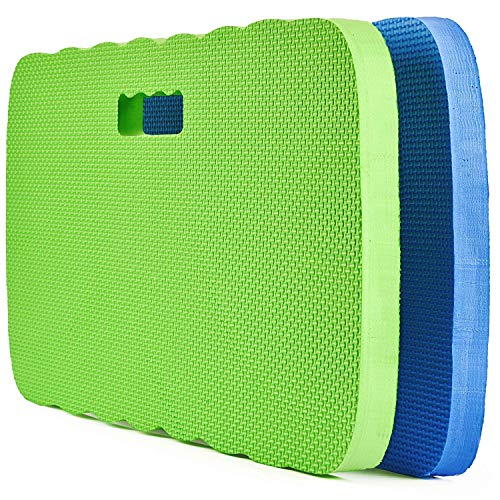 Fitian Kneeling Pad, Knee Protection Garden Kneeler Bath Kneeler Floor Kneeler Yoga Kneeler Mat for Gardening,Baby Bath Tub Bathing,Cleaning,Praying and Exercise(2 Pcs Blue&Green)
