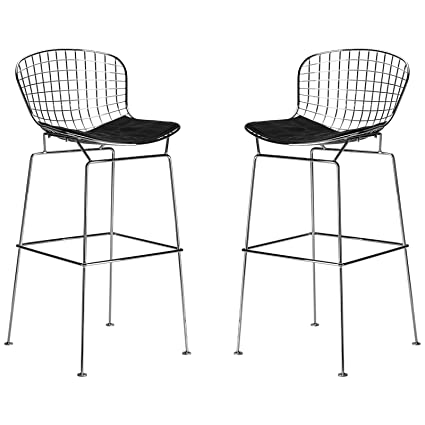 pretty nice f4f5e f5618 Amazon.com: Poly and Bark Morph Bar Stool (Set of 2) Black ...