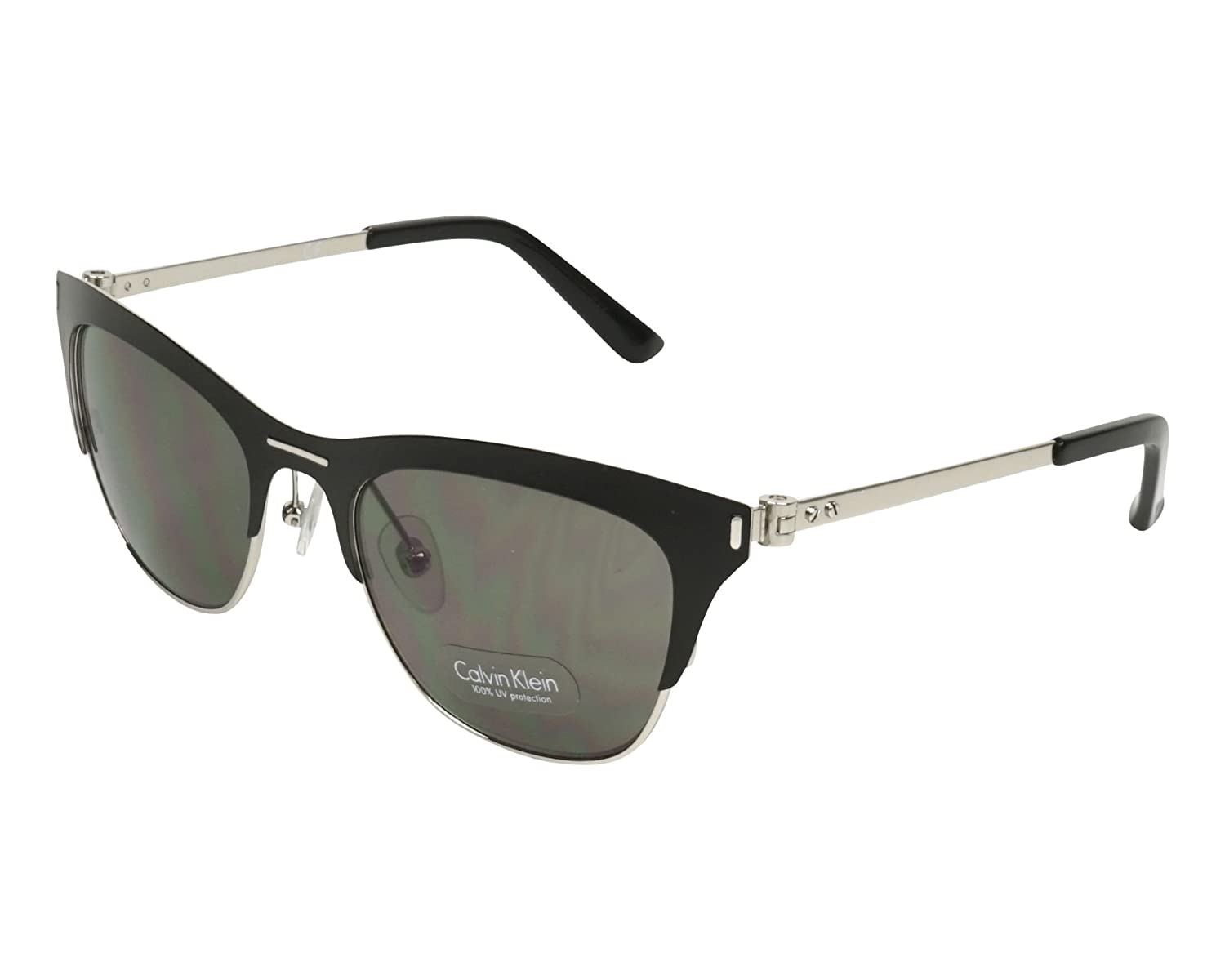e1d47151a9b2 Calvin Klein CK8005S 29259 Black Cat Eye Sunglasses at Amazon Men's  Clothing store: