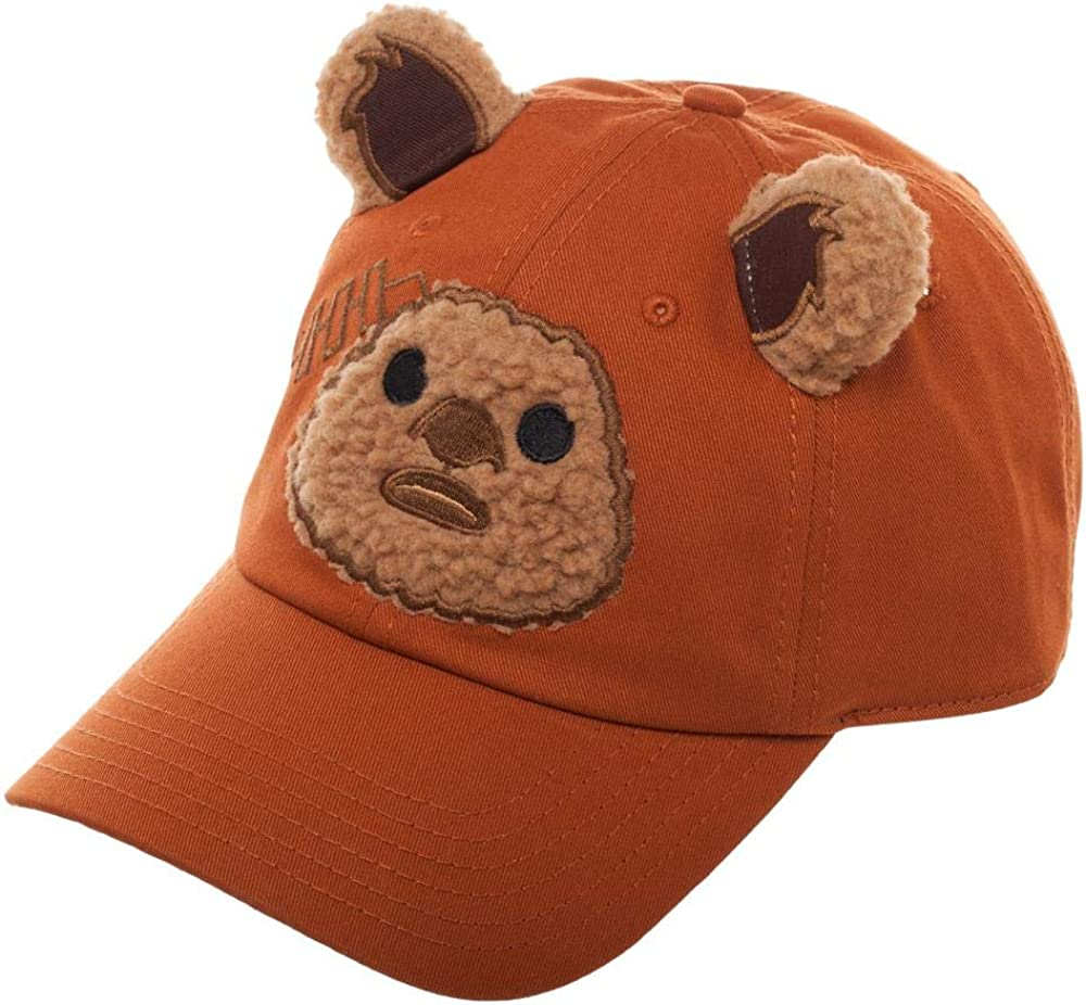 B07JDFPLPF Star Wars Big Face Ewok Adjustable Ball Cap Hat 61ekb-jkiaL