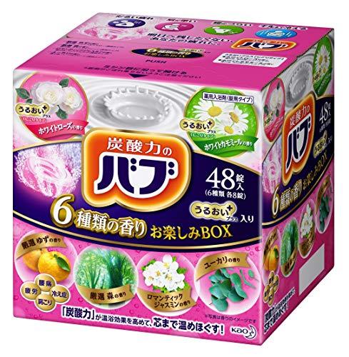 【대용량】 《바부》 6개 의 향기 즐거움BOX 윤택한 플러스 / 48 정탄산 입욕 제 세트 [/]