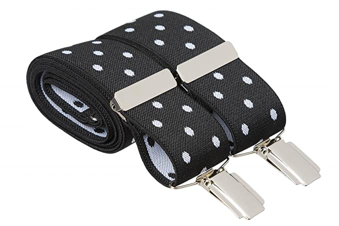 Light Grey Trouser Braces Suspenders Mens Strong Clips XL XXL 3XL Extra Long